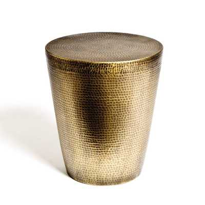 Izmir Hammered Brass Side Table - Domino