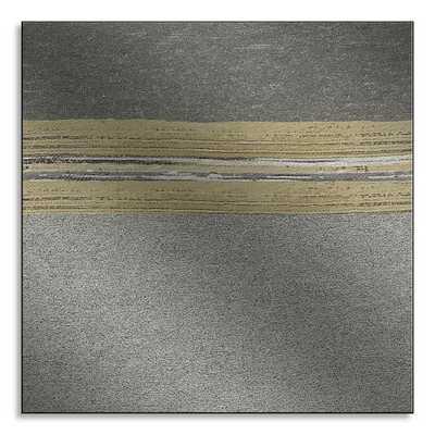Metal Print - Metallic Colorblock - West Elm