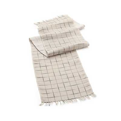 Milo Linen Table Runner - Crate and Barrel