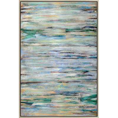 Blue Braid Framed Painting Print - 70x48, Framed - Wayfair