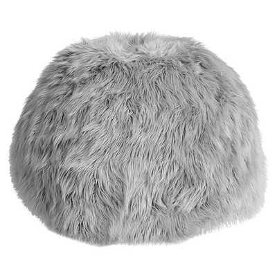Gray Fur-Rific Beanbag Slipcover + Insert -Small - Pottery Barn Teen
