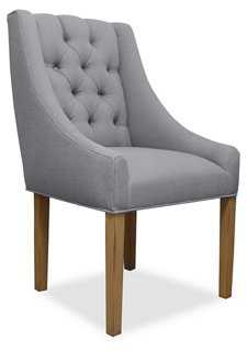 Camilla Tufted Swoop-Armchair, Gray - One Kings Lane