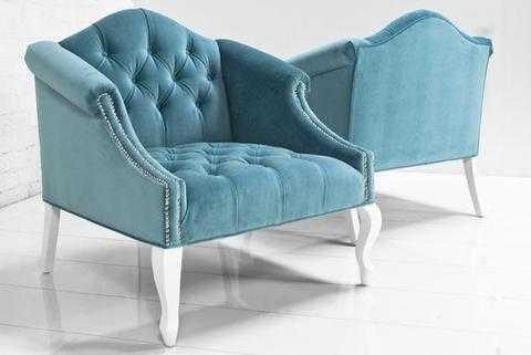 Mademoiselle Chair in Turquoise Velvet - modshop