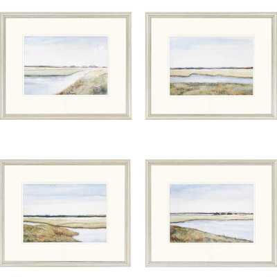"""Marshes Giclee by Coggins 4 Piece Framed Painting Print - 18"""" H x 22"""" W - Wayfair"""