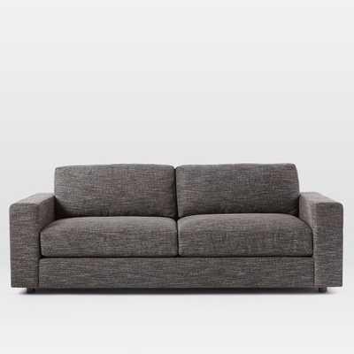 """84.5"""" Urban Sofa - Heathered Tweed, Charcoal - West Elm"""