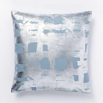 Metallic Brushstroke Grid Pillow Cover - West Elm