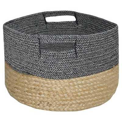 Small Round Woven Storage Basket - Dark Grey - Target