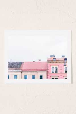 Kimberley Dhollander Dreamy Houses Art Print - 13X19 - Unframed - Urban Outfitters