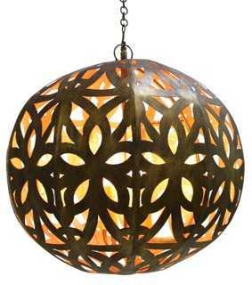 Cut-Out Sphere Chandelier - One Kings Lane