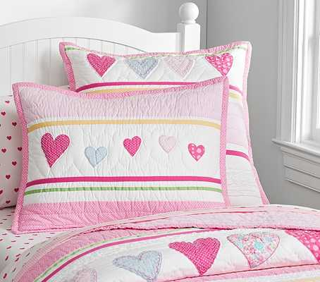 Heart Quilted Bedding - Standard Sham - Pottery Barn Kids