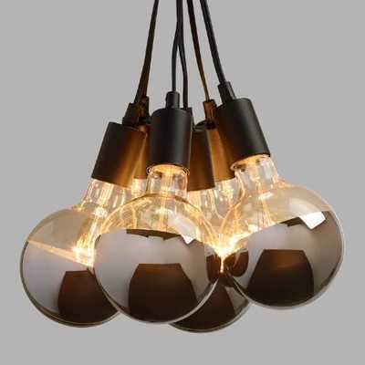 Chrome-Tip 6-Bulb Cluster Pendant Lamp - World Market/Cost Plus