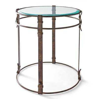 Metal Strap Side Table - Grandin Road