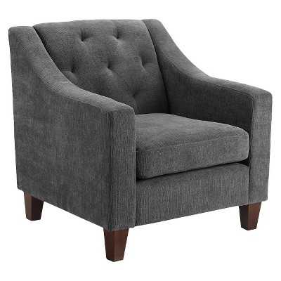 Felton Tufted Chair Pewter - Gray - Target