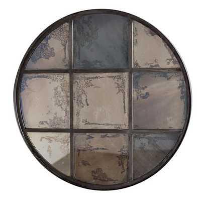 9-pane Round Iron Mirror - Overstock