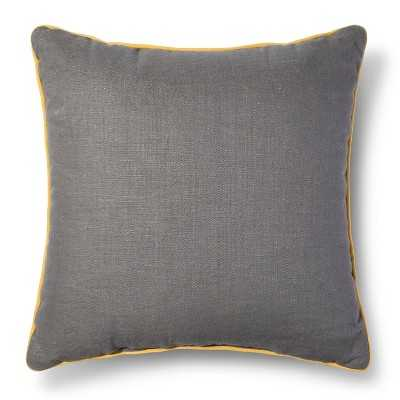 Yellow Piping Throw Pillow - 18sq. - Polyester insert - Target