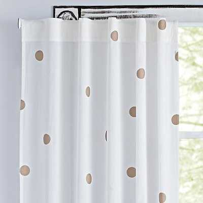 "63"" Champagne Dot Curtain - Land of Nod"