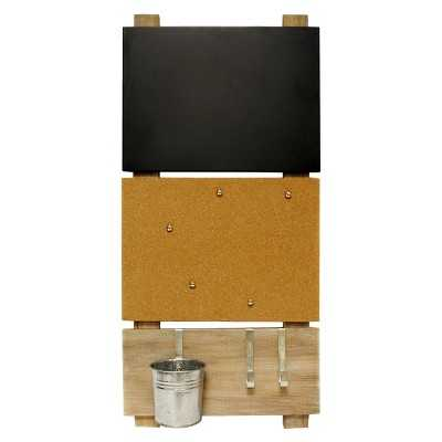 Bulletin Board with Chalkboard and Hooks - Target