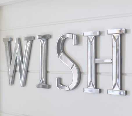 Mirrored Wall Letters, Wish - Pottery Barn Kids