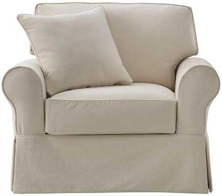 MAYFAIR SLIPCOVERED CHAIR-Classic Natural - Home Decorators