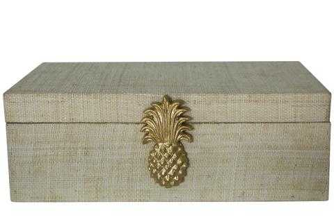 Raffia Pineapple Box - Natural - Society Social