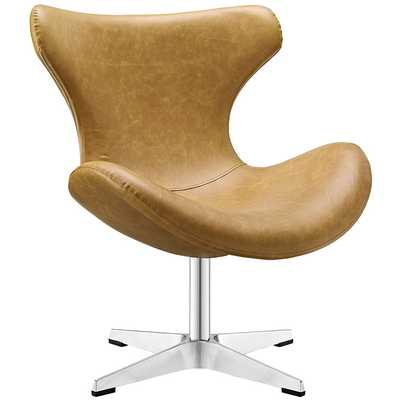 HELM LOUNGE CHAIR IN TAN - Modway Furniture