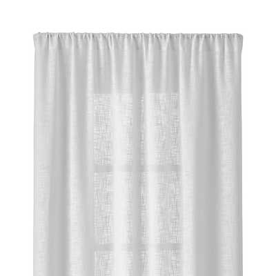 "Lindstrom White 48""Wx84""H Curtain Panel - Crate and Barrel"