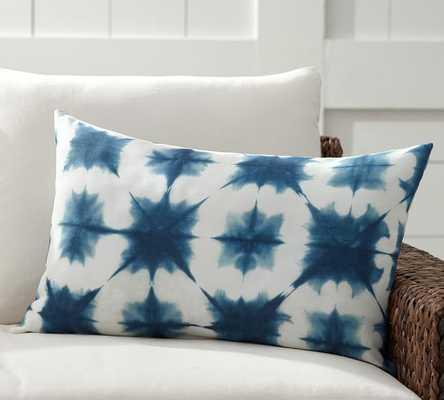 "Zuma Starburst Indoor/Outdoor Lumbar Pillow - 16"" x 26"" - With insert - Pottery Barn"