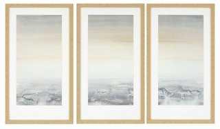 "Germain, Sable Island Pk/3 -  32"" x 18"" x 2""- Framed (Raked gold) - One Kings Lane"