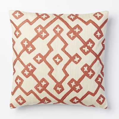 Crewel Lattice Pillow Cover - Rose Bisque- 18x18 Insert sold separately - West Elm