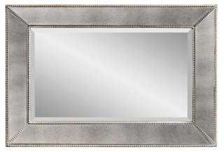 Visby Wall Mirror, Silver - One Kings Lane