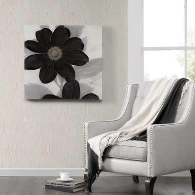 Midnight Bloom Painting Print on Canvas - Wayfair