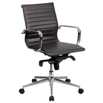Mid-Back Leather Office Chair - Wayfair