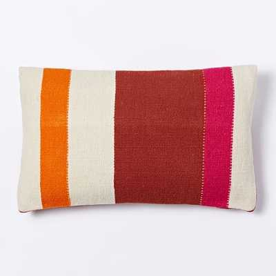 "Steven Alan Colorblock Stripe Pillow Cover - Shockwave, 12""w x 21""l - Insert sold separately - West Elm"