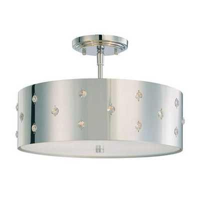 Bling Bling 3-Light Semi-Flush Mount - Y Lighting