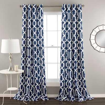 "Edward Room Darkening Navy Curtain Panels - Set of 2 - 52""x84"" - Target"