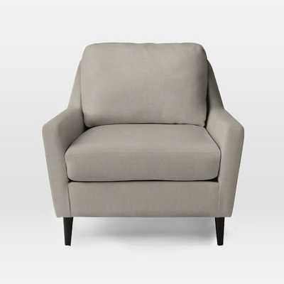 Everett Armchair - Heathered Tweed, Cement - West Elm