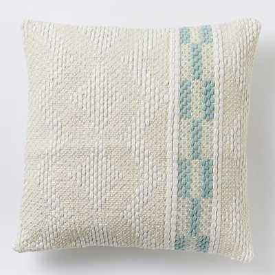 """Diamond Color Stripe Pillow Cover - Pale Harbor-20""""sq.-No Insert - West Elm"""