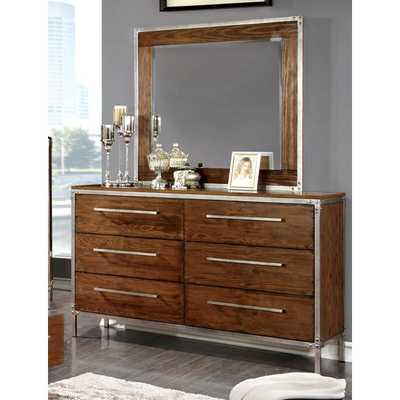 Bilsen 6 Drawer Dresser with Mirror - AllModern