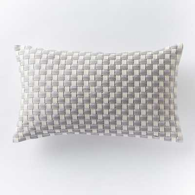 Woven Ribbon Pillow Cover - West Elm