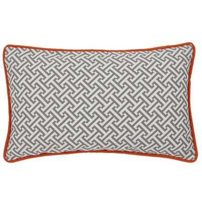 "Maze Cotton Lumbar Pillow - 12"" H x 20"" W - With inert - AllModern"