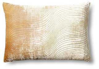 Slinky 13x19 Velvet Pillow, Yellow, down/feather insert - One Kings Lane