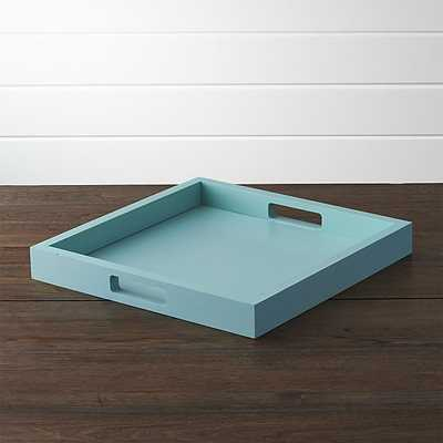 Zuma Tray - Aqua sky - Crate and Barrel