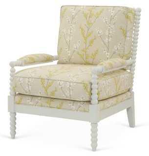 Bankwood Spindle Chair, Lemongrass - One Kings Lane