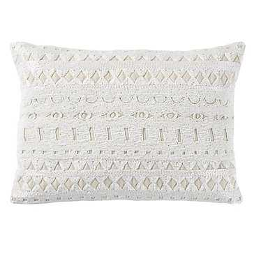 Nouveau Pillow - Ivory- 14''W x 20''H- Cotton/ Linen fill insert - Z Gallerie