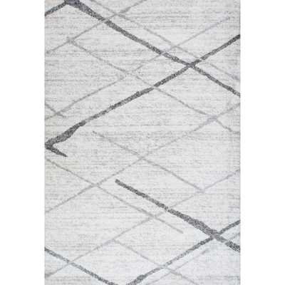 Contemporary Striped Grey Rug (5' x 8') - Overstock