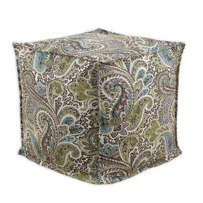 Somette Paisley Chocolate Square Ottoman - Large - Overstock