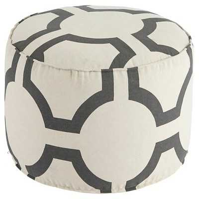Geometric Pouf - Charcoal - Signature Design by Ashley - Target