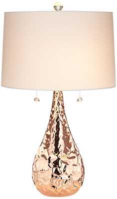 Kathy Ireland Pinnacle Copper Metal Table Lamp - Lamps Plus