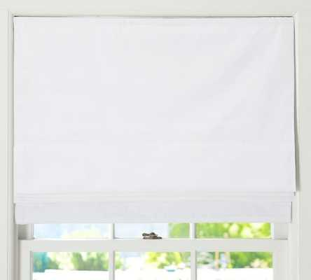 "CAMERON COTTON CORDLESS ROMAN SHADE - WHITE - 36"" X 64'' - Pottery Barn"