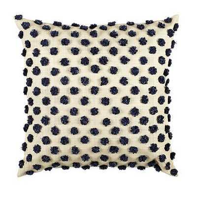 "Parker Pom Pom Raffia Pillow Cover - 18""Sq. - Insert not included - Ballard Designs"